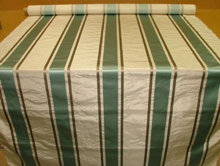 Tatiana Stripe Duck Egg 100% Silk fabric